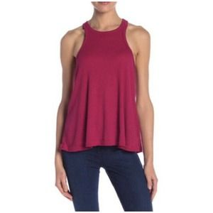 Intimately Free People Pink Ribbed Tank Top